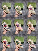2021 Designer Schuhe Luxus Multicolor Rhyton Frauen Männer Turnschuhe Trainer Vintage Chaussures Damen Casual Schuh Designer Sneaker Top Qualität mit Box Größe 35-46