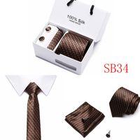 7,5 cm breite formale business nals krawatte set 5 stücke männer bindungen freizeit hochzeit handherchief manufelklasse