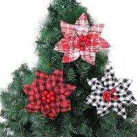Decorative Flowers & Wreaths 3pcs lot 17cm Christmas Artificial Flower Home Decor Wedding Decoration Handmade Tree Ornaments