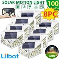 Liibot 100led sol solar ao ar livre iluminação à prova d'água da segurança da segurança para o jardim