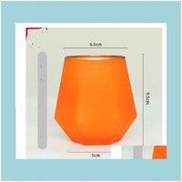 Cozinha El Suprimentos Home Garden2021 Creative Color Fosco Seis Rowed Whisky Diamante Europeu Estilo Copo de Vidro 015 Drop entrega 2021 A92oe