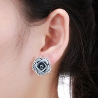 Pendientes de diseñador Pendientes de joyería Flor de rosa Pendiente de amor Pulsera A6
