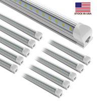 25pcs 8FT 150W, 2 3 4 5 6 8 fotos luzes do tubo de conduzido V-molda luz de linha dupla integração LED T8 Frio 270 graus Ângulo de ângulo Bulbos