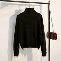 Pulls pour femmes Tigena Mode Design Femme Turtleneck Jumper Hiver Sweat Long Sweat-shirt, Pull féminin Blanc E50J
