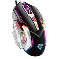 USB Gaming Mouse Wired G402 Ergonômico Óptico 4 Ajustável 3200 DPI Botão 6D LED Backlight Mice Gamer Light for Computer PC Jogo de laptop