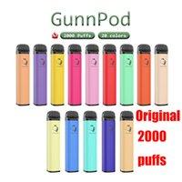 Original GunnPod cigarette Disposable E-cigarettes Device Kit 2000 Puffs 1250mAh Battery Prefilled 8ml Pod Stick Vape Pen Authentic Vs kangvape