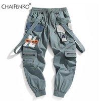 Chapenenko Jogger Loisirs Pantalons de sport Hommes Hip Hop Streetwear Feuille de poutres Pantalon de cargaison Fashion Printing Hommes Pants 201116