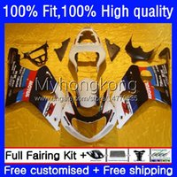 Injection Mold Bodys For SUZUKI GSXR1000 K2 GSXR-1000 00 01 02 Bodywork 24No.59 GSXR 1000CC 1000 CC 00-02 GSX-R1000 2000 2001 2002 Motorcycle White black blue OEM Fairing