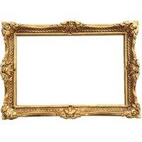 Frames European Retro Oil Painting Frame Po Bathroom Mirror Studio Wedding Home Decoration Corner Flower Wall Hang