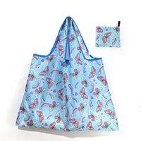 أكسفورد القماش أكياس التسوق قابلة لإعادة الاستخدام المرأة طوي حمل حقيبة قابلة للطي قدرة كبيرة حقائب المحمولة القماش البيئية البقالة حقيبة DHF5520