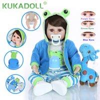 Kukadoll 18-дюймовый реалистичный револьверный мальчик кукла мягкая силиконовая ткань тело 48 см реалистичные детские игрушки Playmate для детей день рождения подарок L0308