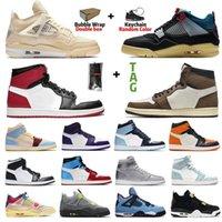 Jumpman 1s 1 vela gato preto 4 4s sapatos de basquete brut banido esportes homens mulheres universidade azul chicago obsidiano insultado sneakers sneakers