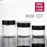 60ml 100ml 120ml Crystal Clear Plastic Empty Bottle jar Originales Refillable Cosmetic Cream Eye Gel Jars Containers F1352high qty