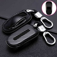 New ABS bon Fibe Remote Full Cover Case Shell For 3 S Model X Car Smart Key Accessories Holder Fob