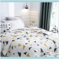 Bedspread Biancheria da letto Forniture GardenFlamingo Geometrico Geometrica Quilt Coperte da trapunta Comforter Bed ER Quilting Home Tessili Adatto per bambini AD