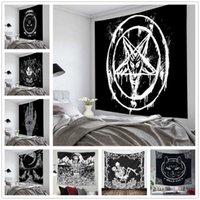 Pentagramma Bandiera di Satana Tarot Nero Cat Tapestry Appeso A Mano Hippy Moon Lupo Witchcraft Decor Decor Arazzi Coperta da parete