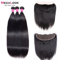 Human Hair Bulks 3 Bundles With Frontal 13x4 Ear To Lace Closures Straight Brazilian Remy Extensions 26 Inch Frontals