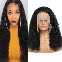 13x4 perucas de cabelo humano peruca pré-arrancada peruca dianteira moeda de onda de corpo reto água kinky cacheado brasileiro peruano malaio indiano Mongólio cabelo