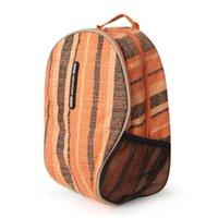 Backpack COM Vintage PVC Waterproof Nylon School Bag Travel For Men Women Girls Large Light Durable Orange