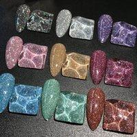 Gel des ongles Réflecteur Glitter Polonais 15ml Auroras Spartoras Art Laser Art Vernis Semi permanent Top Base de base
