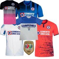 Liga MX Campeonês 2021 2022 Cruz Azul Futebol Jerseys Rodriguez Pineda Alvarado Romo Home 3Rd 20 21 2 2 2 2 2 homens de futebol Camisa de mulheres 3xl