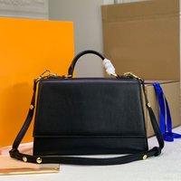 حقائب النساء حقائب الأزياء حقائب محفظة عالية السعة إلكتروني قفل جلد طبيعي عادي الأعلى مقبض hsp جودة عالية شحن مجاني