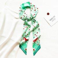 Scarves Fashion Hair Scarf Women Headband Silk Bag Skinny Design Wrist Towel Foulard Neckerchief Satin