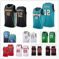 2021 Männer 12 JA Morant Jersey 77 Luka 23 MJ Doncic Basketball Trikots