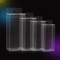 200pcs Hook Transparent PVC Phone Case Clear Plastic Boxes Storage Jewelry Gift Box Wedding Birthday Party for Gift Packing Box