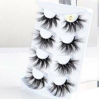 False Eyelashes Resuable Handmade Wispy Cross Dramatic 3D Soft Mink Hair 25mm Lashes Eye Lash Extension
