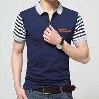 Designer Polo Mens Brand Clothing Slim Short Sleeve Shirt Lapel Business Male Polos Shirt High Quality Cotton Men Camisa Polo Shirts Trend