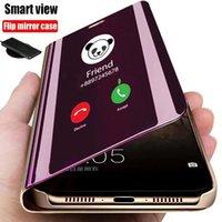 Mirror Smart Flip Phone Case For Samsung Galaxy A50 A30S A80 A40 A60 A10 A20 A50S A30 A90 A70 5G Luxury Window Stand Full Cover