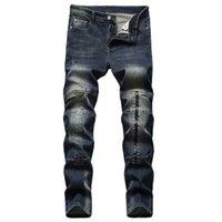 Erkek Kişilik Ekleme Kot Moda Eğilim Fermuar Düğmesi Yüksek Sokak Denim Kalem Pantolon Bahar Erkek Kaykay Ince Jean Pantolon