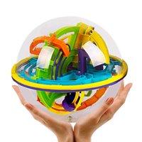 تململ اللعب 3D الفكر السحري لغز الرخام لعبة حيرة المغناطيسي الكرة الذكاء الرصيد التعليمية الكلاسيكية لعبة ماهت الكرات 18 * 18 * 19.5