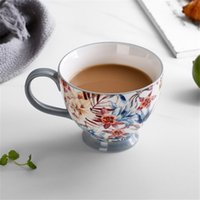 400ml colorato pittura tazze in ceramica amanti kawaii tazze di caffè natalizio set top-grade bone cinese tè acqua tazze di latte ghiaccio