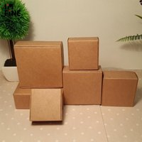 Gift Wrap 30pcs Small Kraft Paper Box Black Wedding Party Favor Candy Boxes White Jewelry Birthday Soap Packaging