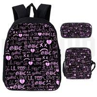 حقيبة الظهر ليل زقزقة 3d مطبوعة الرجال النساء المتناثرة مدرسة حقائب كمبيوتر محمول بنين بنات عاشق حقيبة سفر