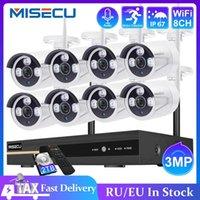 MISECU 8CH NVR 3MP CCTV Wireless System Audio Record Outdoor Waterproof P2P Wifi Security Ai Camera Set Video Surveillance Kit H0901