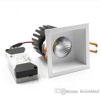 Faretti da incasso a LED da incasso quadrato COB Sostituire lampada da soffitto sostituibile Alluminio 110V-240V 6W / 10W / 15W Taglio foro 75mm