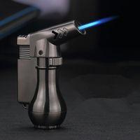 Nuova Mini Spray Gun Butane Compact Butane Jet Lighter Torch Turbo Accendino 1300 C Accendino a getto di metallo antivento Flated Accendino senza gas
