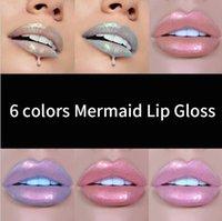 2021 HANDAIYAN 6 Colors Mermaid Lipgloss Lip Tint Moisturizing Long Lasting Lip Gloss Lip Batom Maquiagem Makeup