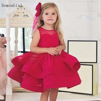 Girl's Dresses Puffy Flower Girl Layers Organza First Birthday Children Wedding Party Little Princess Baptism Gown