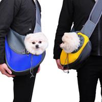 كلب صغير القط آمنة مريحة قابل للتعديل واحد الكتف حقيبة تحمل حبال حقيبة الحيوانات الأليفة الناقل