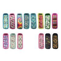 Неопреновые гильзы для эскиа, утепленные морозильные держатели Icypole для детского летнего Кактуса, подсолнечника, собака, галстук-краситель 14 цветов GWC7644