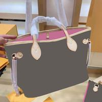 2021 Heiße klassische Einkaufstaschen Mode Druckbuchstaben Handtasche Damen Casual Underarm Bag Open Pocket Umhängetasche