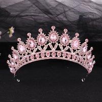 Kraliçe Tiaras Taçlar Muhteşem Lüks Kristal Bantlar Gelin Hairband Kızlar Balo Parti Düğün Saç Takı Aksesuarları Hediyeler