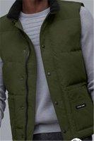 2021 Marca Coletes Canadá Estados Unidos Estilo Mens Freestyle Real Feather Down Jacket Inverno Moda Vest Bodywarmer Advanced Waterproof