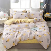 Bedding Sets Fruits Pattern Duvet Cover Set With Quilt Bed Sheets Linen Pillow Case King Queen Twin Size Soft