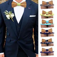 Yay Bağları Klasik Moda Yenilik Manuel Ahşap Kravat Mendil Set erkek Papyon Ahşap Hollow Oyma ve Kutu Krawatte Legame Hediye