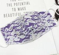 Flor Mujeres Máscara de encaje Personalidad Diseñador Máscaras Polvo A prueba de polvo Paño Adulto Paño de algodón Máscaras 6 Colores